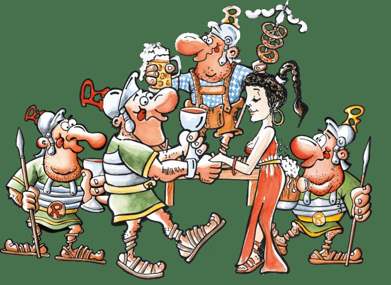 Römerkeller Altenmarkt Römer feiern ein Fest