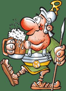 Römerkeller Römer freigestellt Bier